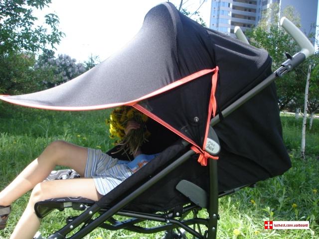 Как сделать дополнительный козырек на коляску своими руками